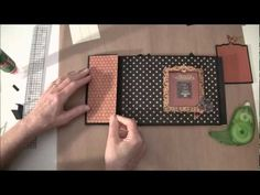 How to build a  photo mini album with G45 Olde Curiosity Shoppe paper collection Part 3