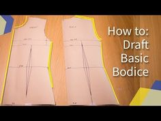 This is a pattern tutorial showing how to draft the basic bodice block pattern. Circle Skirt Pattern, Bodice Pattern, Top Pattern, Sleeve Pattern, Dress Sewing Patterns, Clothing Patterns, Sewing Ideas, Sewing Projects, Sewing Tips