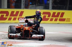 Fernando Alonso, Mark Webber, Ferrari, Red Bull, 2013 Singapore Formula 1 Grand Prix, Formula 1