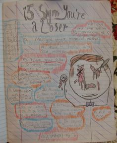"""8th grader Jaysen won a """"Mr. Stick of the Week"""" award for this uinque tribute (and a little gory) to the play """"Oedipus Rex,"""" which we just finished studying.  Emily will enjoy looking back at this page all year long.  Read about Mr. Stick in my classroom here:  http://corbettharrison.com/Mr_Stick.html"""