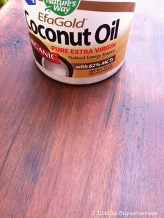 Refinishing Furniture with Coconut Oil - 2 Little Supeheroes