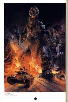 Godzilla 1954, by Koni Yoshiyuki, if I'm not mistaken.