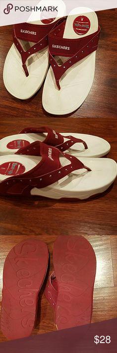 Skechers Tone ups slip on sandals worn 1x sz 8 . Skechers Shoes Athletic Shoes