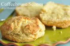 Coffeehouse Scones. #TarynMade The BEST basic scone recipe! Add raisins or berries or cranberries or/and chocolate chunks. Yum