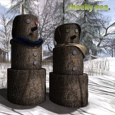 Manly Snowpeople for The Mens Dept!