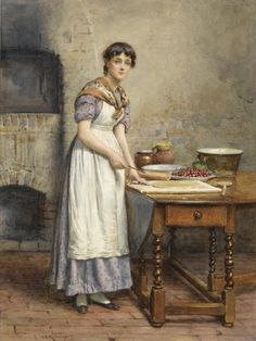 Cherry Pie ~ George Goodwin Kilburne ~ (English: 1839-1924)