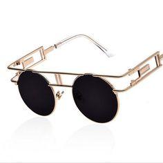 872a647d182d 2016 Metal Frame Steampunk Sunglasses Women Brand Designer Unique Men  Gothic Sun glasses Vintage Oculos De