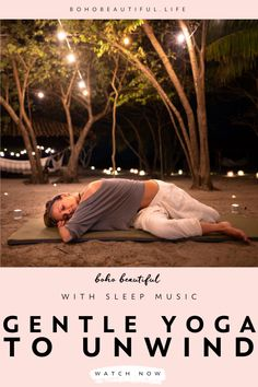 This evening gentle yoga class and sleep music soundtrack is perfect for all levels and anyone that is looking to relax their body and mind after a long day. Yoga Videos, Workout Videos, Yoga Sequences, Yoga Poses, Namaste, Yoga Sequence For Beginners, Bedtime Yoga, Gentle Yoga, Yoga Music