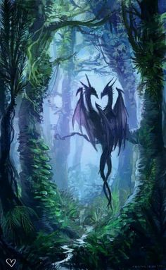 Dragon couple Fantasy Wesen, Dragon Dreaming, Cool Dragons, Dragon's Lair, Dragon Artwork, Dragon Pictures, Beautiful Dragon, Mythological Creatures, Sword And Sorcery