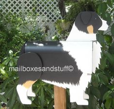 Australian Shepherd mailbox, dog mailbox shaped and painted like an Australian Shepherd, dog mailboxes Australian Shepherd Husky, Australian Shepherds, Shiloh Shepherd, Shepherd Puppies, Shepherd Dog, Blue Merle, Cute Puppies, Cute Dogs, Letter Boxes