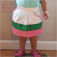 Handmade Frenzy: Little Girl Pleated Skirt Tutorial