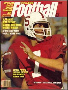 Street & Smith's College Football Yearbook Guide 1981 (John Elway Stanford University Cover) $74.75