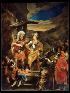 Art in Space: Ferdinand Bol: Gaius Fabricius Luscinus and Pyrrhus (1656) Baroque Painting, Oil Painting Abstract, Art And Illustration, Illustrations, Ferdinand Bol, A4 Poster, Poster Prints, Google Art Project, Dutch Golden Age