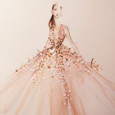 """""""Loving this illustration of @Jlo in ELIE SAAB Haute Couture at the oscars by the talented @PaperFashion 