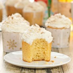 Eggnog Cupcakes with Rum-Infused Frosting {Sweet Pea's Kitchen}