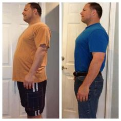 """This is Mark. Day 30 of being on program he says, """"My 30 day check-in, down 23.4 lbs. Blood Pressure ; before 141/90, now 111/76. I can live with that!""""     Mark's lost even more since this pic!! Keep it up Mark!"""