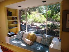 Were Anshen & Allen Inspired by Wright? Window Seats, Window Wall, Pierre Koenig, Stone Fireplace Wall, Walker House, Moore House, School Architecture, Architect Design, Porch Swing