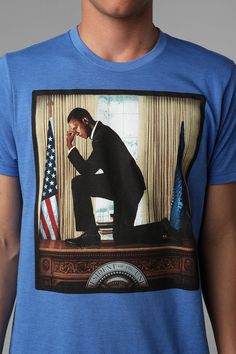 Victory Kneel Obama Tee  #UrbanOutfitters - Awesome for obvious reasons. That's what I'd do first day on the job too.