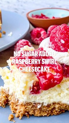 Low Carb Deserts, Low Calorie Desserts, Healthy Dessert Recipes, Easy Desserts, Low Carb Recipes, Delicious Desserts, Yummy Food, Keto Desserts, Raspberry Swirl Cheesecake