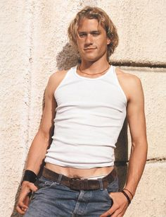 Heath Ledger, Prague  by Bruce WEBER - I like the pose but the pants definitely need to be higher