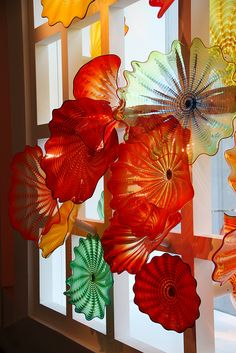 Part of Kaleidoscope Persian Window - Dale Chihuly by Gaby.Bernstein
