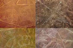 Presentes na planície do deserto de Nazca (por isso o nome), no Peru são gigantescas figuras praticamente impossíveis de serem vistas por quem está no chão. Porém, quando se sobrevoa o local é possível ver figuras detalhadas, assim como padrões geométricos. As figuras foram descobertas a partir da década de 1930 com os primeiros voos pelo local e, conforme afirmam diversos cientistas não existia nenhuma tecnologia à época que permitissem tal evento.