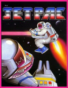 Outrageous!  Wonderful!    fuckyeahbritisholdschoolgaming:    ZX Spectrum game Jetpac. Ultimate Play The Game, 1983.