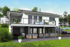 Paljon tilaa ulkona oleskeluun – Asko: 107 + 28 m², 4 makuuhuonetta, rinnetalo