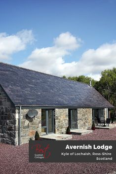 Jaw-dropping loch views and total tranquillity in this uber modern Scottish stone built retreat for 4, on the beautiful banks of Loch Alsh, Ross shire.