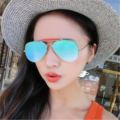 05eaac5a84a New Flat Tom Browne Women Sunglasses Brand Designer Vintage Mirror Sun  Glasses Alloy Frame Men Pilot Sunglasses Shades