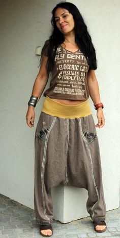 Yoga harem partly recycled pants by jamfashion on Etsy, $73.00