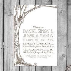 Love Tree Wedding Invitation Set   http://www.etsy.com/listing/95972130/love-tree-wedding-invitation-set#