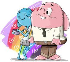 The Amazing World of Gumball Cartoon Movie Characters, Couple Cartoon, Cartoon Shows, Cartoon Network, Amazing Gumball, Good Cartoons, Types Of Art Styles, Nickelodeon, World Of Gumball