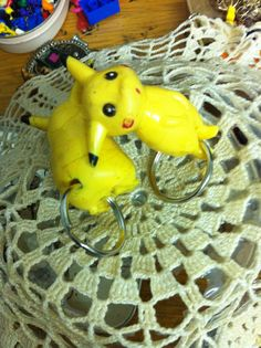 Yes, so the actual key thingy comes from Pikachu's ass. Blach humour, didn't I tell you? Found these Pikachus in a flea market in Chile the tails were missing already then. Recycled Materials, Chile, Recycling, Key, Humor, Unique Key, Upcycle, Chili