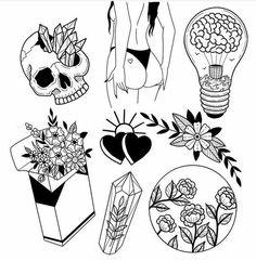 Новости - Malen und so - tattoo designs ideas männer männer ideen old school quotes sketches Flash Art Tattoos, Body Art Tattoos, Small Tattoos, Kritzelei Tattoo, Doodle Tattoo, Doodle Art, Tattoo Sketches, Tattoo Drawings, Art Sketches
