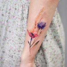 Wiesenblumen watercolour