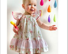 Baby sewing pattern Sunny Dress and Bloomers pdf sewing