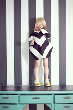 Super fun sartorial kiddie moment with print on print
