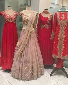 Attending Sangeet Soon? Shop These Inspired Hand Work Lehenga Cholis By Aynaa 👗 Indian Wedding Gowns, Indian Gowns Dresses, Indian Bridal Outfits, Indian Bridal Lehenga, Indian Designer Outfits, Designer Dresses, Gown Wedding, Bridal Sarees, Wedding Dresses