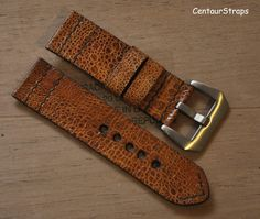 exotic toad leather watch band Handmade by CentaurStraps Leather Watch Bands, Brushed Stainless Steel, Toad, Exotic, Watch Straps, Belt, Watches, Wallet, Handmade