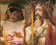 Jacek Malczewski (1854-1929) - 1910 Christ Before Pilate