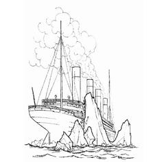coloriage bateau titanic - Dessin Titanic
