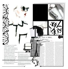 """""""Its better this way"""" by trudith ❤ liked on Polyvore featuring Karen Millen, Chanel, Balmain, ASOS, Daizy Shely, Nancy Gonzalez, INDIE HAIR, Anastasia Beverly Hills, blackandwhite and sunglasses"""
