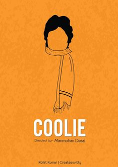 Abstract minimal poster on movie Coolie Iconic Movie Posters, Minimal Movie Posters, Minimal Poster, Cinema Posters, Movie Poster Art, Party Poster, Iconic Movies, Poster On, Film Posters