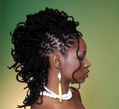 sisterloc mohawk | Loc Styles Locs | Celebrity Inspired Style, Hair, and Beauty