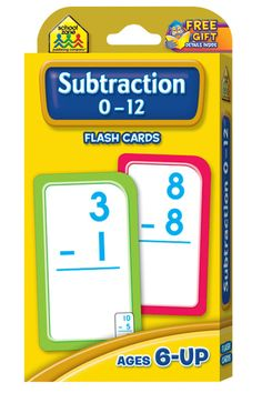 Flash Cards-Subtraction 0-12 53/Pkg