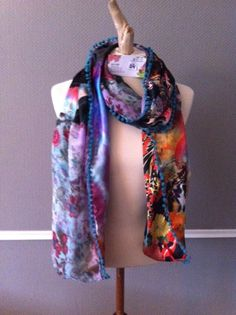 Made by Keet handmade scarves made out of fabrics silk and satin 200 x 28 cm