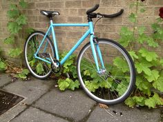 """""""Sleek Boy"""" another minimal fixie by Sleek this time boys baby blue.  Email mcsimsi@hotmail.co.uk"""