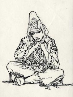 Starwatcher 1985 par Moebius - Illustration Jean Giraud, Illustrations, Illustration Art, Caricatures, Moebius Art, Blackwork, Comic Book Collection, Ligne Claire, Drawing Studies