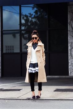 HallieDaily : Winter Layers Dress over Jeans